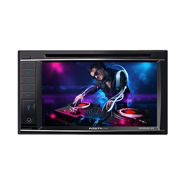 "Rádio Automotivo Multimídia SP8520BT 6,2"" DVD Player com Controle Positron"
