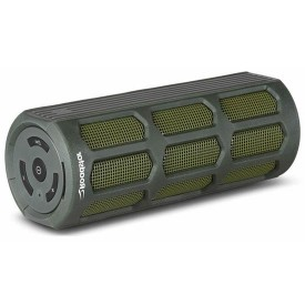 caixa som portatil verde militar bluetooth roadstar boost