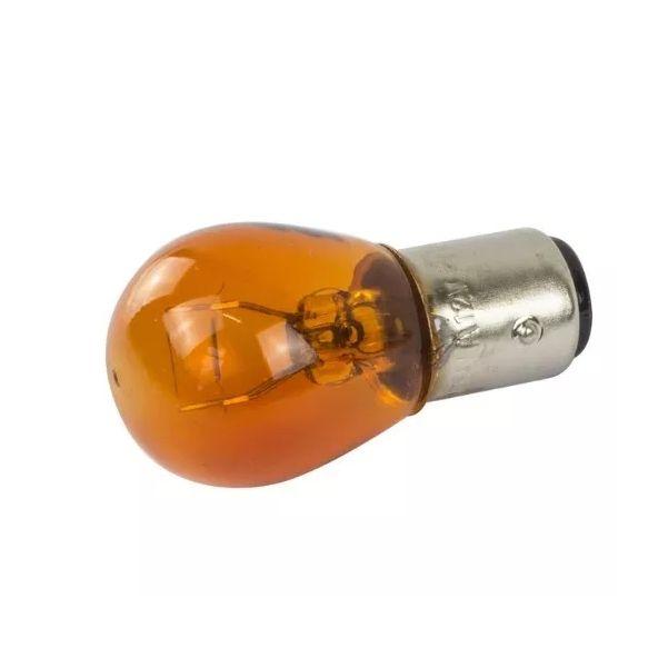 Lâmpada Filamento 12V 7528 21/5W BAY15d Ambar Teslla T1034AB
