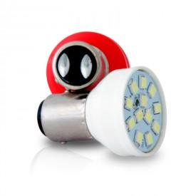 par lampada 12 led bay15 d branco 24v 5 21w autopoli ap347