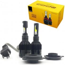 kit lampada super led standard 6000k h4 bivolt techone
